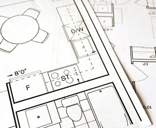 Bauplan - Wohnungsgrundriss