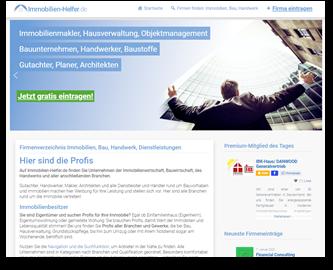 Immobilien-Helfer.de - das Fimenportal für dieBau- und Immobilienbranche